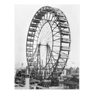 The ferris wheel at the World's Columbian Postcard
