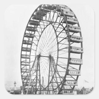 The ferris wheel at the World's Columbian Square Sticker