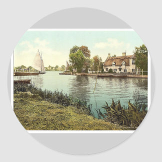 The ferry, Horning Village, England classic Photoc Sticker