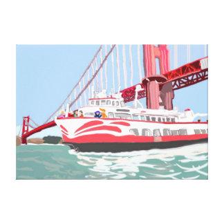 The Ferry Ride Under The Golden Gate Bridge Canvas Print