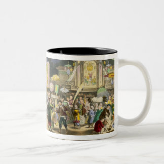 The Festival of the Lanterns, pub. by Formentin, 1 Two-Tone Coffee Mug