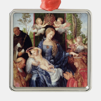 The Festival of the Rosary, 1506 Silver-Colored Square Decoration