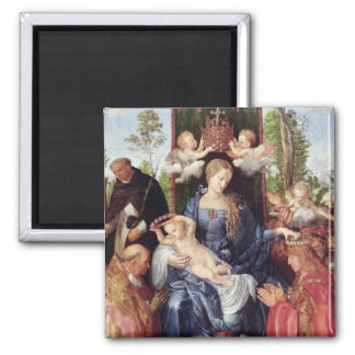 The Festival of the Rosary, 1506 Square Magnet