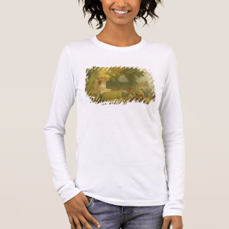 The Fete at Saint-Cloud, detail of the Puppet Show Long Sleeve T-Shirt