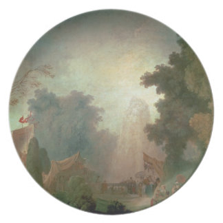 The Fete at Saint-Cloud (oil on canvas) (for detai Dinner Plates