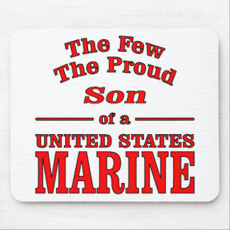 The Few The Proud Son Of A United States Marine Mouse Pad