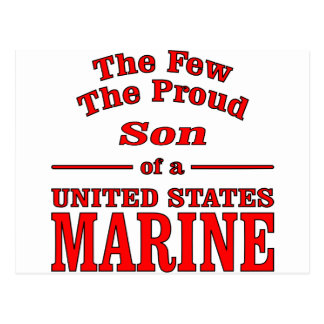 The Few The Proud Son Of A United States Marine Postcard