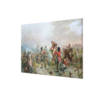The Field at Waterloo (oil on canvas) Canvas Print