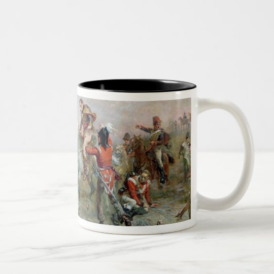 The Field at Waterloo (oil on canvas) Two-Tone Coffee Mug