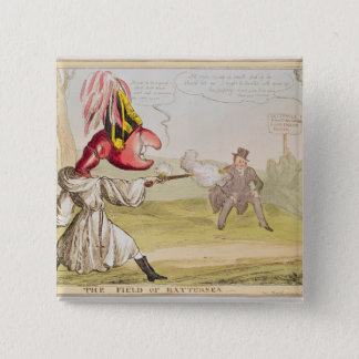 The Field of Battersea, 1829 15 Cm Square Badge