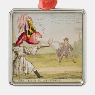 The Field of Battersea, 1829 Silver-Colored Square Decoration