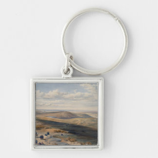 The Field of Inkerman, plate from 'The Seat of War Silver-Colored Square Key Ring