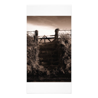The field steps personalised photo card