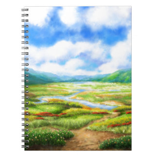 The Fields Are Teeming With Mellow Spiral Note Book