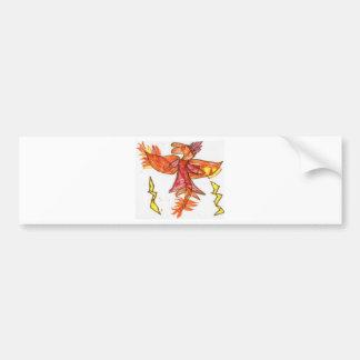 The Fiery Draggy Bumper Sticker