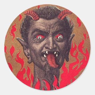 The Fiery Krampus Classic Round Sticker