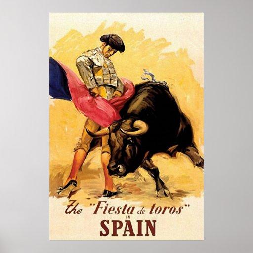 The Fiesta De Toros In Spain Poster