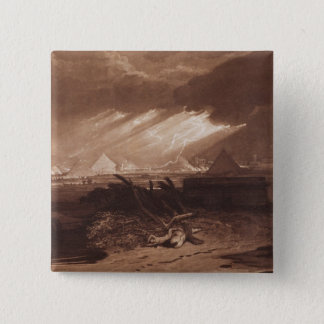 The Fifth Plaque of Egypt, engraved by Charles Tur 15 Cm Square Badge