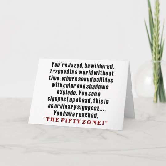 Hilarious 50th Birthday Gifts Card