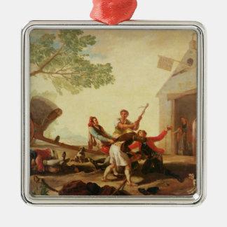 The Fight at the Venta Nueva, 1777 Silver-Colored Square Decoration
