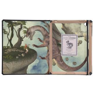 The fight, Dragon and dragon fighter iPad Folio Case