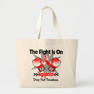 The Fight is On Against Deep Vein Thrombosis (DVT) Jumbo Tote Bag