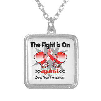 The Fight is On Against Deep Vein Thrombosis (DVT) Square Pendant Necklace