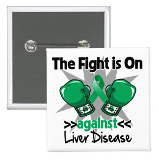 The Fight is On Against Liver Disease 15 Cm Square Badge