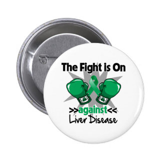 The Fight is On Against Liver Disease 6 Cm Round Badge