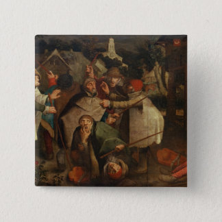 The Fight of the Blind Men, 1643 15 Cm Square Badge