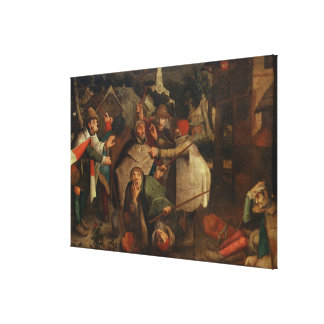 The Fight of the Blind Men 1643 Gallery Wrap Canvas