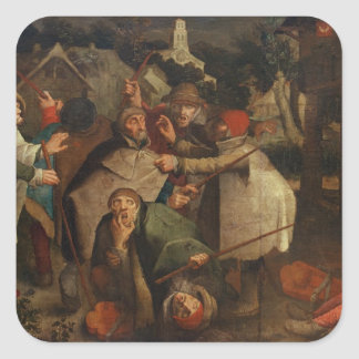 The Fight of the Blind Men, 1643 Square Sticker