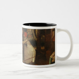 The Fight of the Blind Men, 1643 Two-Tone Coffee Mug
