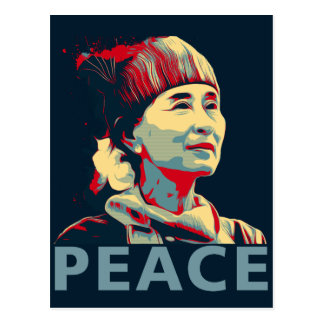 THE FIGHTER - Aung San Suu Kyi | Custom Postcard