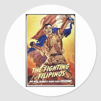 The Fighting Filipinos Round Stickers