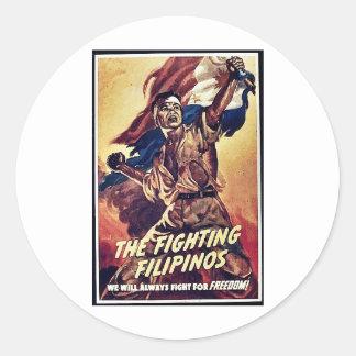 The Fighting Filipinos Round Sticker