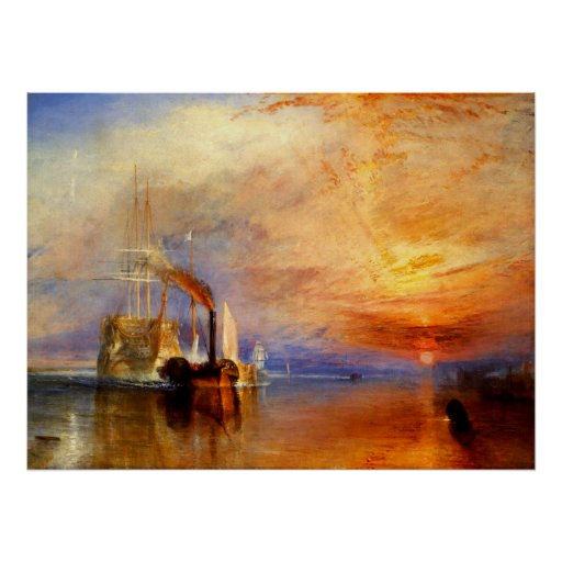 The Fighting Temeraire, J. M. W. Turner Poster