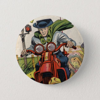 The Fighting Yank On A Motorcycle 6 Cm Round Badge