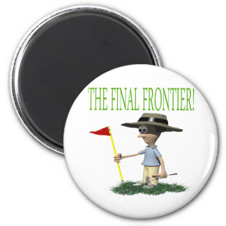 The Final Frontier 6 Cm Round Magnet
