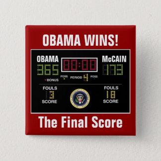 The Final Score 15 Cm Square Badge