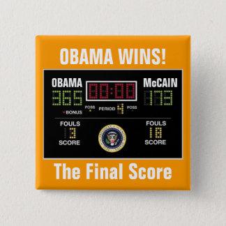 The Final Score - Customized 15 Cm Square Badge