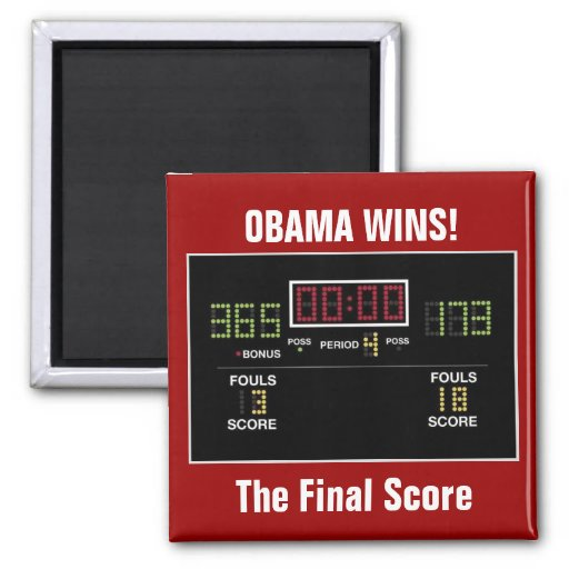 The Final Score Refrigerator Magnet