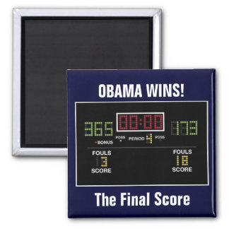 The Final Score Square Magnet