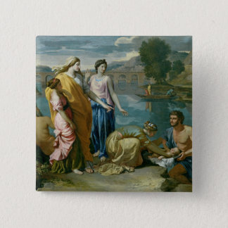 The Finding of Moses, 1638 15 Cm Square Badge
