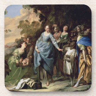 The Finding of Moses, c.1650-56 (oil on canvas) Drink Coaster