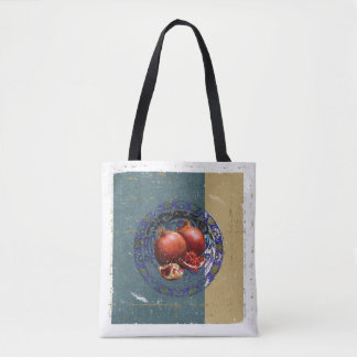 The Fine Art of Pomegranate in the Antique Plate! Tote Bag