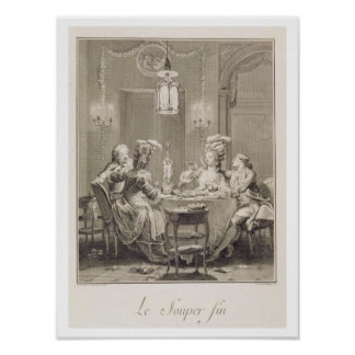 The Fine Supper 1781 engraved by I S Helman 17 Poster