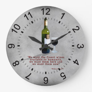 The Finest Wines Large Clock