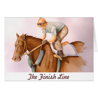 The Finish Line Greeting Card