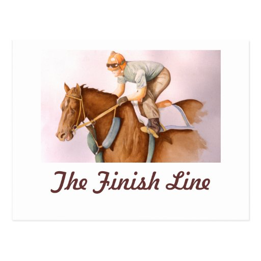The Finish Line Post Card